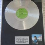 Elvis Presley framed platinum LP - Elvis' Christmas Album