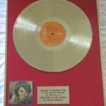 Elvis Presley framed gold LP - Welcome To My World