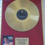 Elvis Presley framed gold LP - Elvis Is Back