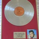 Elvis Presley framed platinum LP - Loving You
