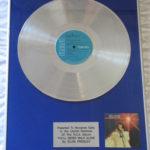 Elvis Presley framed platinum LP - You'll Never Walk Alone