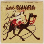 Hand Signed and Inscribed Sahara Matchbook