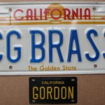 Claude Gordon License Plate