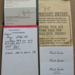 Claude Gordon Pad of Personalized Stationary and Business Cards