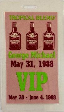 Rare George Michael 1988 VIP Pass