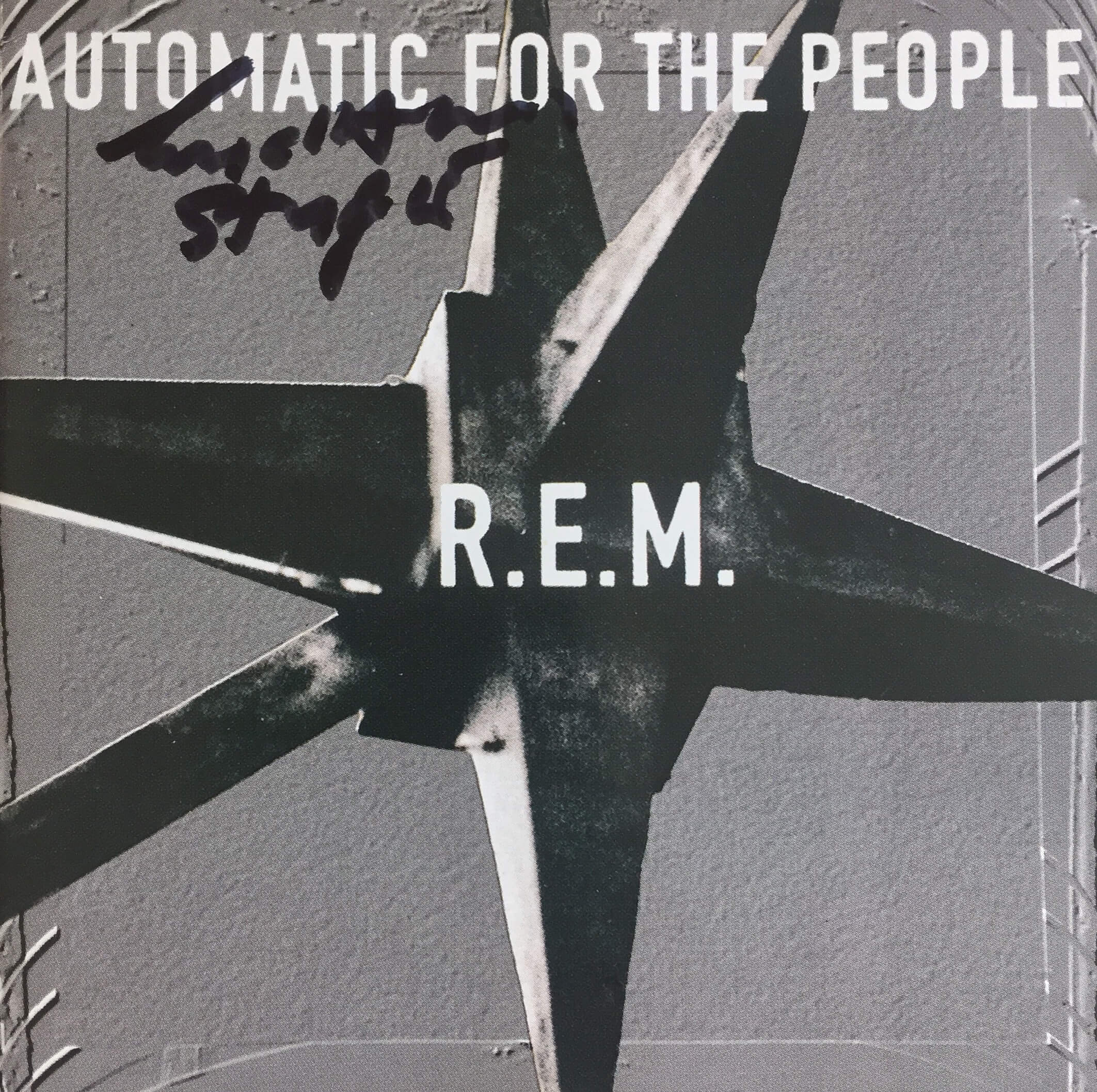 Michael Stipe Hand Signed Automatic For The People CD