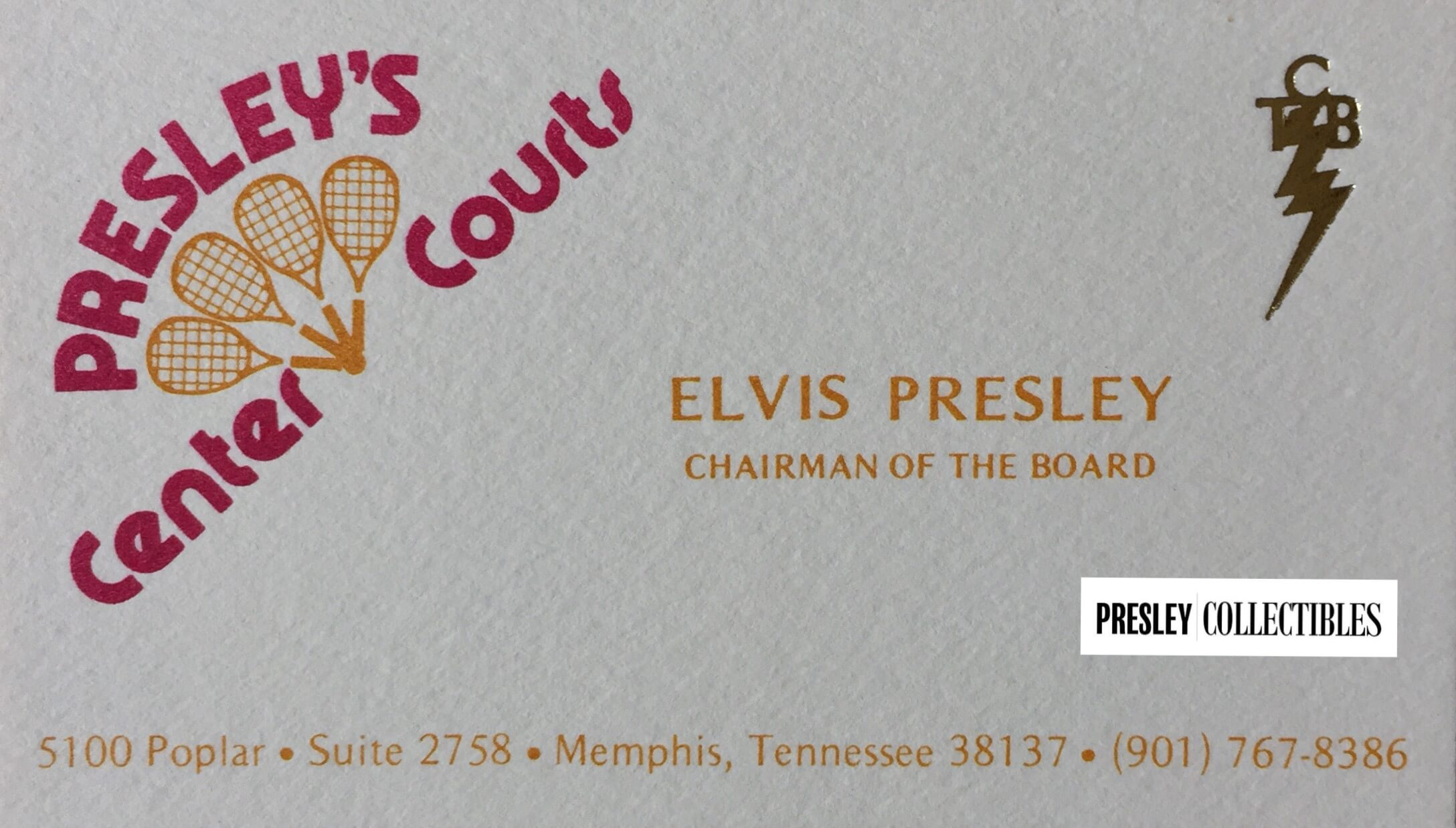 Presley Center Courts Business Cards - Presley Collectibles