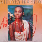 Whitney Houston CD hand signed by Whitney Houston in red ink - rare
