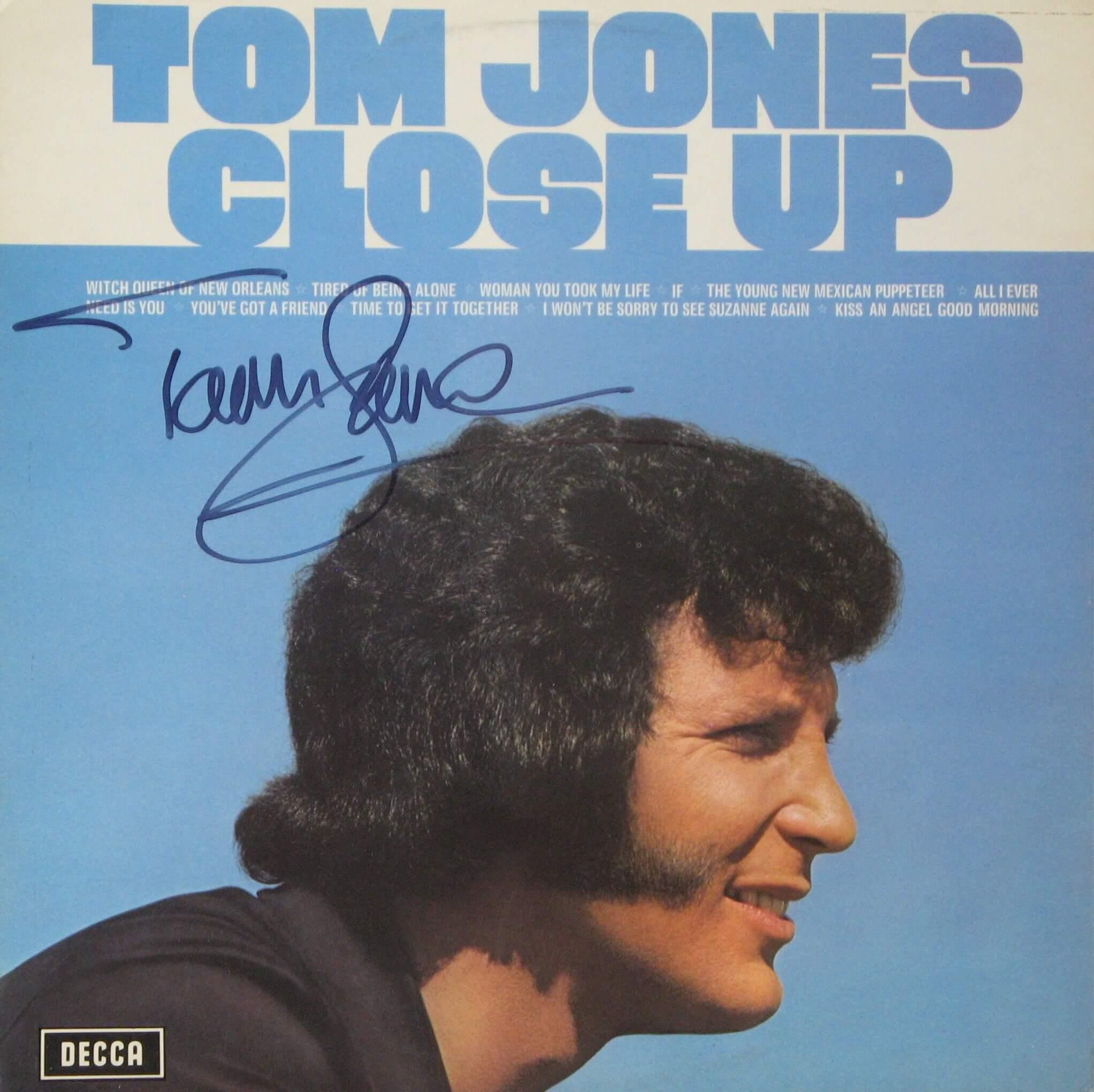 Tom Jones Hand Signed Lp