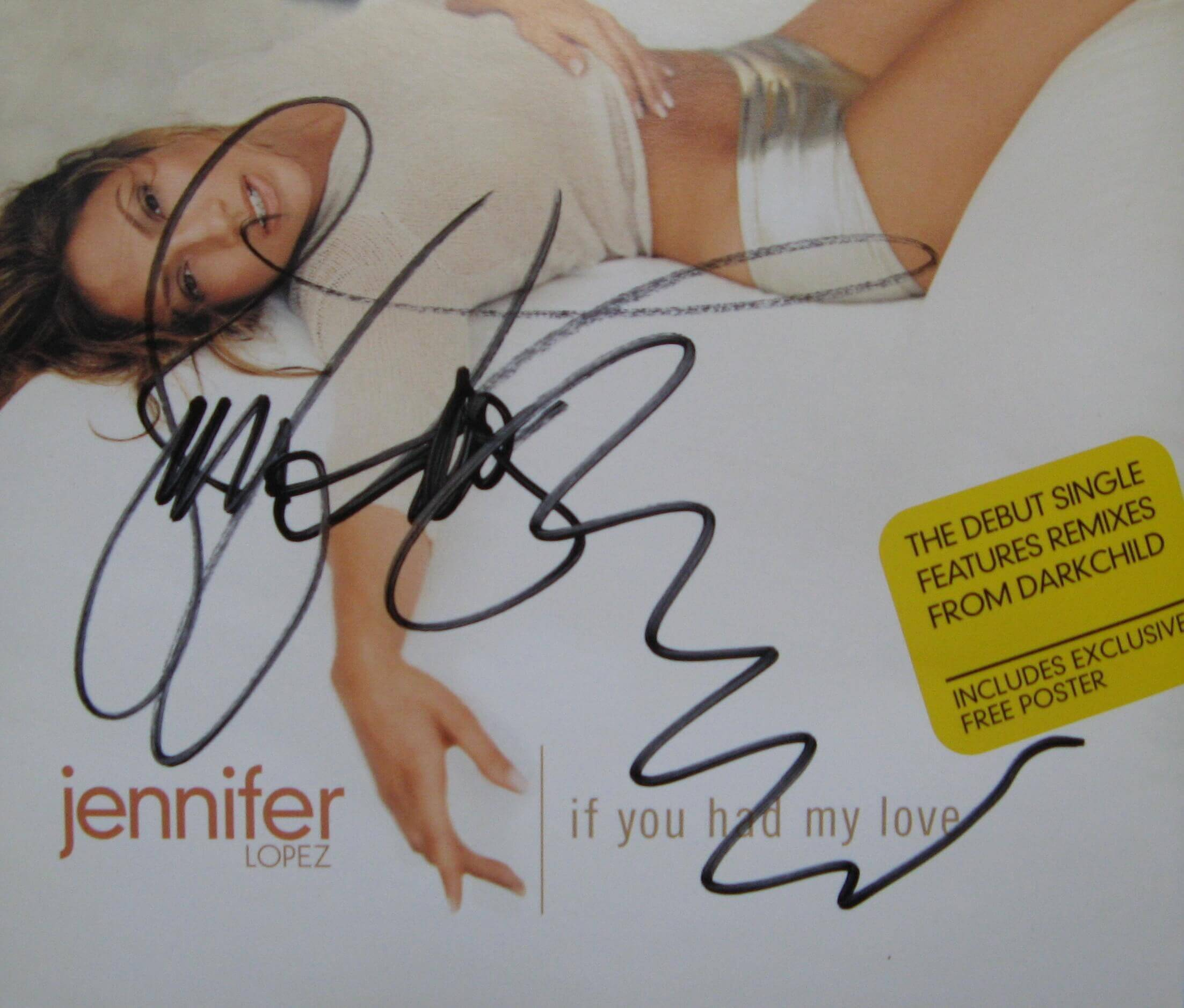 Jennifer Lopez Hand Signed If You Had My Love Cd Single Presley Collectibles