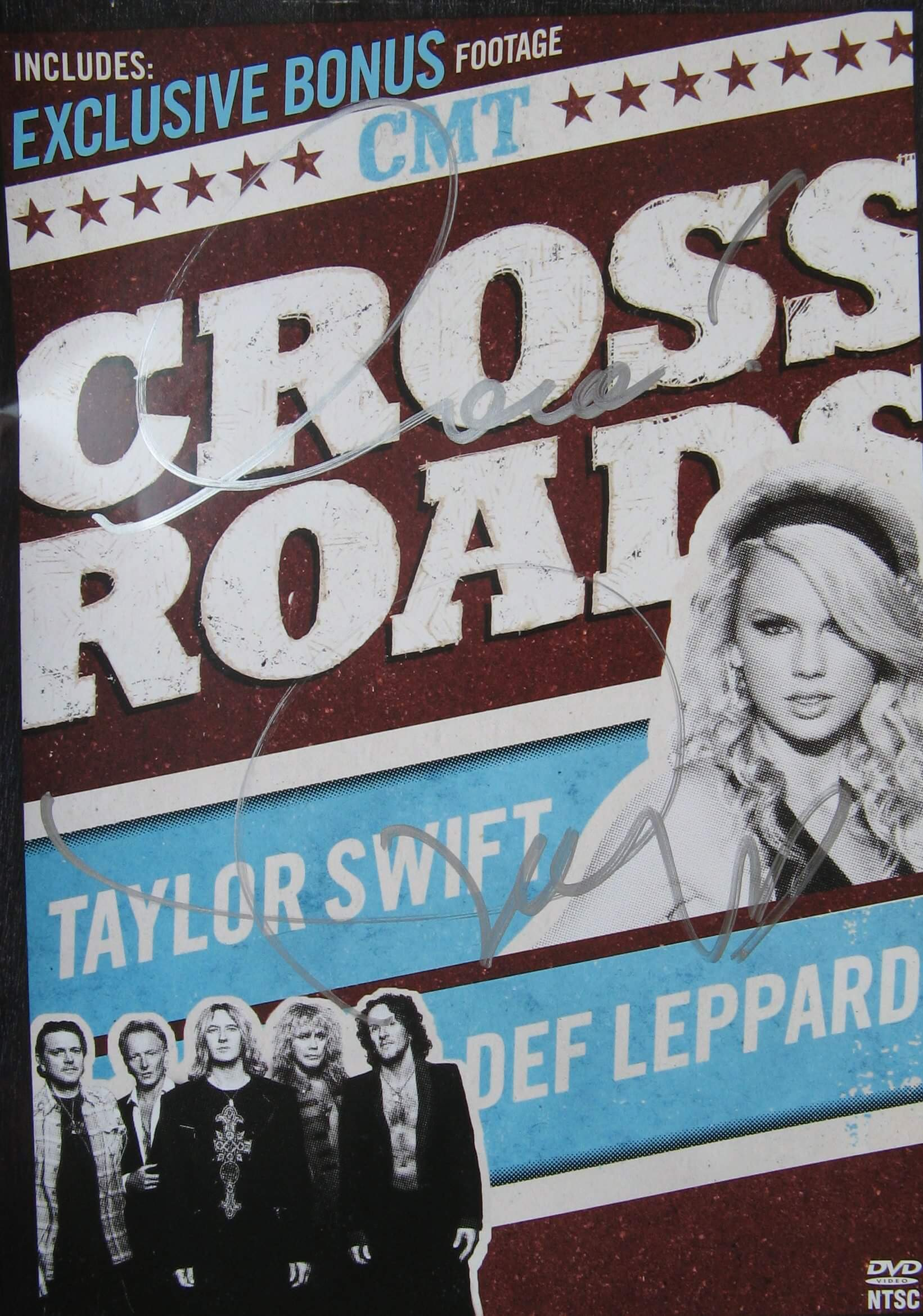 Taylor Swift Hand Signed Crossroads Dvd Presley Collectibles