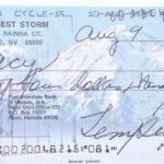Tempest Storm hand signed cheque